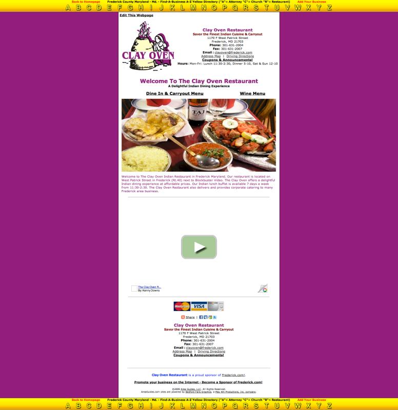 Brilliant Clay Oven Restaurant Frederick Maryland Indian Restaurant Interior Design Ideas Oxytryabchikinfo